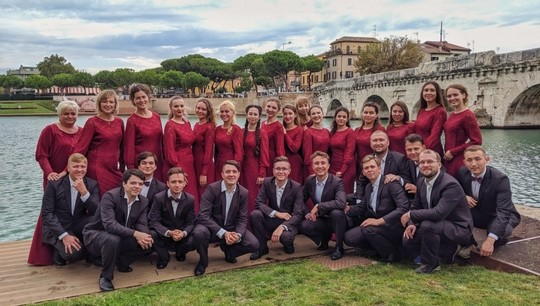 30 people represented The UrFU academic choir in Rimini
