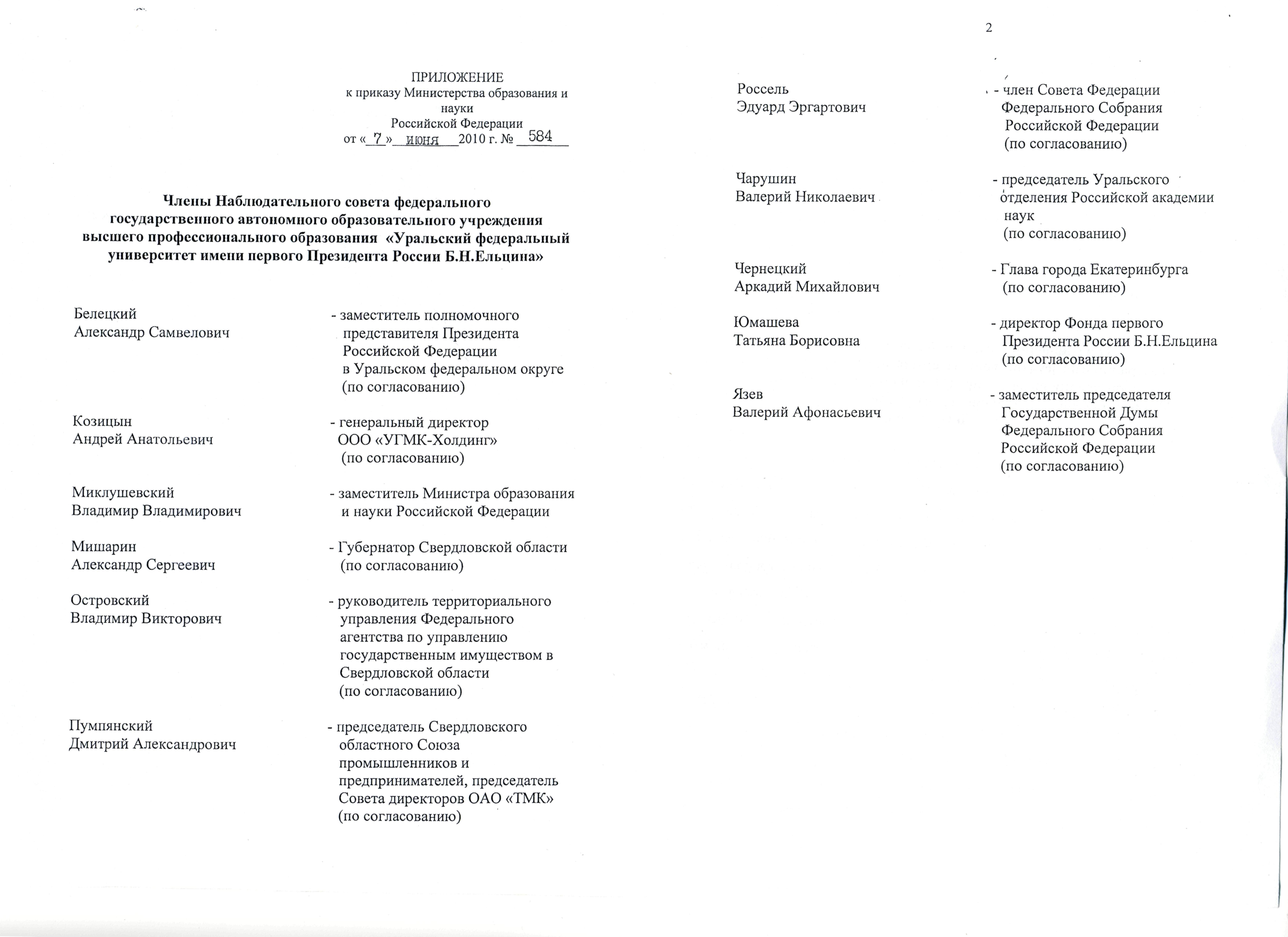 приказ ректора образец